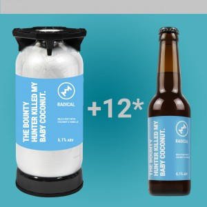 1 DOBOZ AJÁNDÉK SÖR + Radical - The Bounty Hunter Killed My Baby Coconut. 6,1% 20l KeyKeg