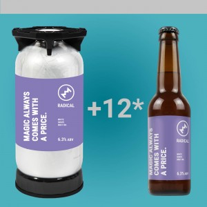 1 DOBOZ AJÁNDÉK SÖR + Radical - Magic Always Comes With A Price. 6,3% 20l KeyKeg